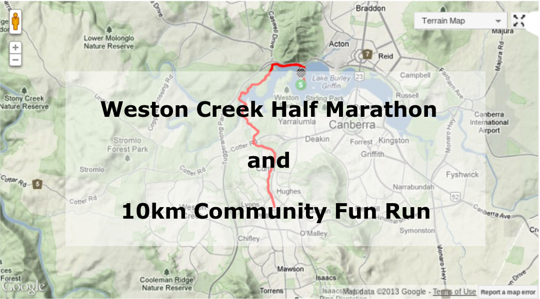 Weston Creek Half Marathon